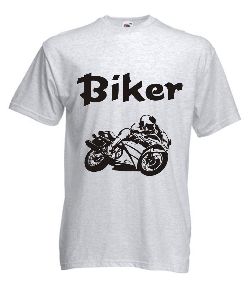 t shirt herren bedruckt mit motiv biker. Black Bedroom Furniture Sets. Home Design Ideas