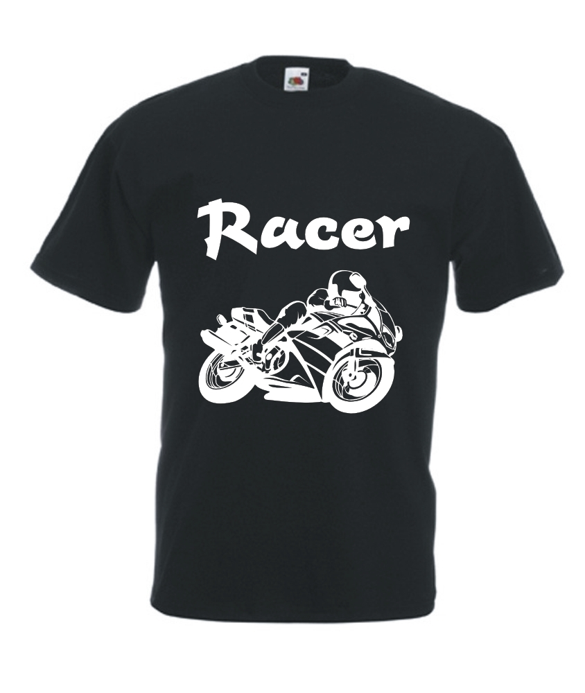 t shirt herren bedruckt mit motiv racer onlineshop. Black Bedroom Furniture Sets. Home Design Ideas