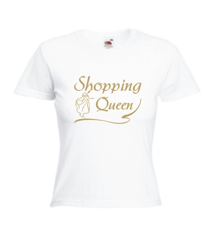 sexy damen t shirt mit motiv shopping queen frauen t shirt mit spruch. Black Bedroom Furniture Sets. Home Design Ideas