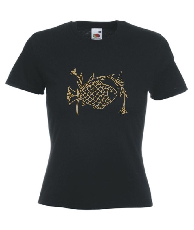 d084b7f4c16d02 Motiv T-Shirt Damen Art Fisch - Fafuar.com Onlineshop