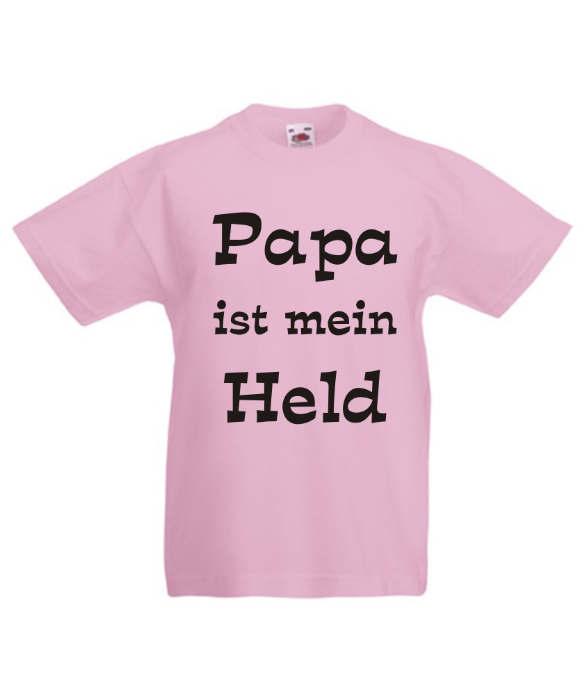 kinder t shirt mit motiv papa ist mein held. Black Bedroom Furniture Sets. Home Design Ideas