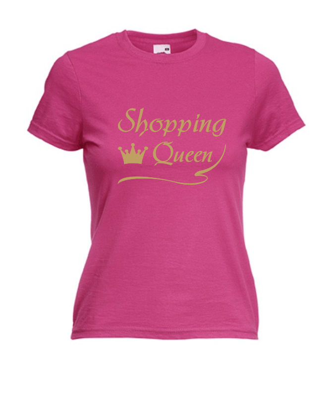 Motiv T-Shirt Damen Shopping Queen 6 - Fafuar.com Onlineshop