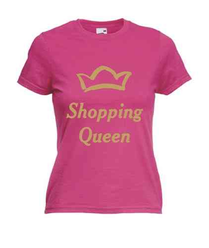 Motiv T-Shirt Damen Shopping Queen 2