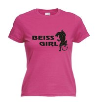 Motiv T-Shirt Damen Beiss Girl