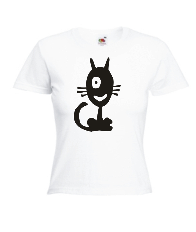 motiv t shirt damen art katze onlineshop. Black Bedroom Furniture Sets. Home Design Ideas