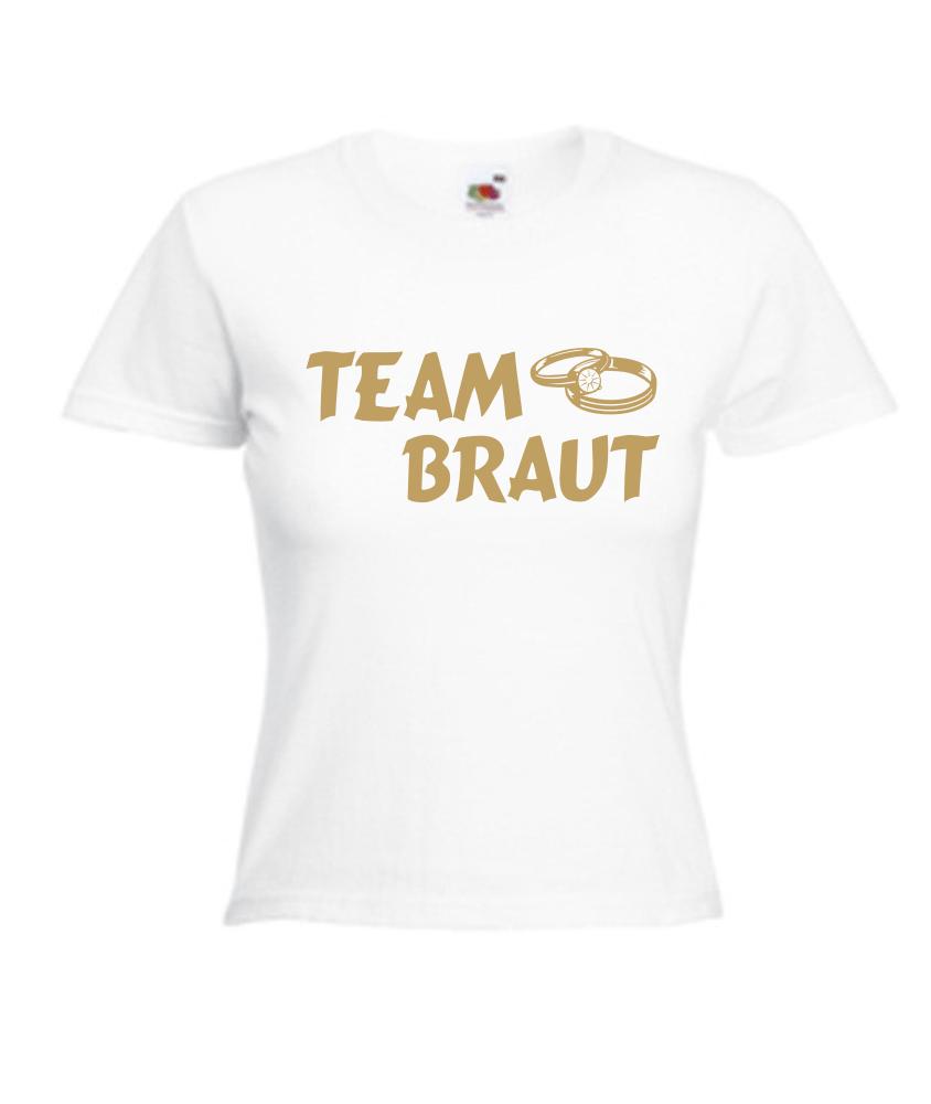 motiv t shirt damen für jga team braut 5 fafuar onlineshop