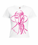 Motiv T-Shirt Damen Art Frau mit Hut