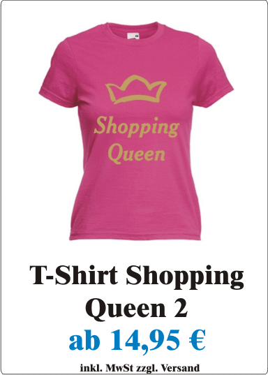 Shopping_Queen_Sexy_Damen_T-Shirt_mit_Motiv_Shopping_Queen_Frauen_T-Shirt_mit_Spruch_Shopping_Queen__fuchsia_gold_Angebot