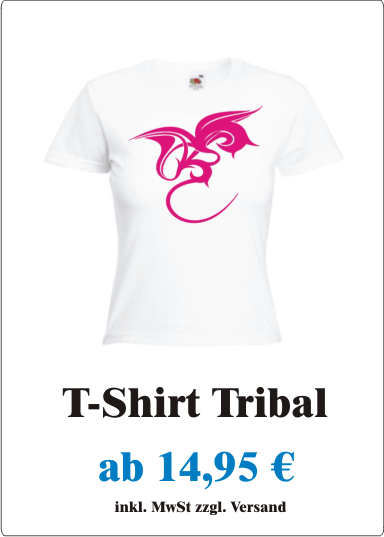 T-Shirt_Damen_Frauen_Motiv_Drachen_Tattoo_Tribal_sexy_pink